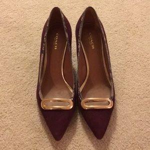 Coach suede heels